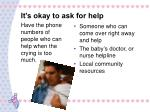 it s okay to ask for help