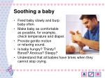 soothing a baby