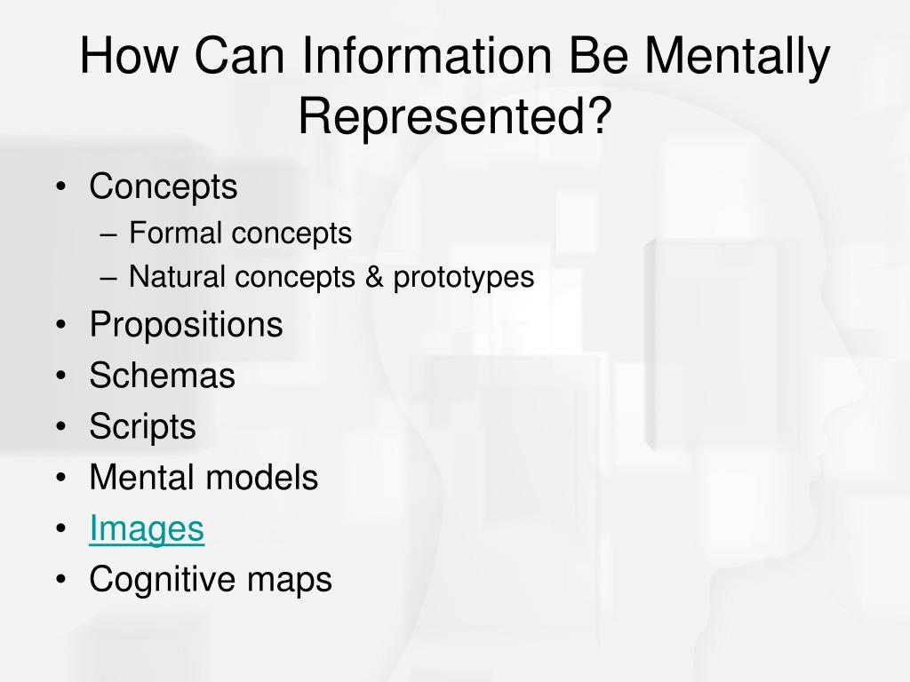 How Can Information Be Mentally Represented?