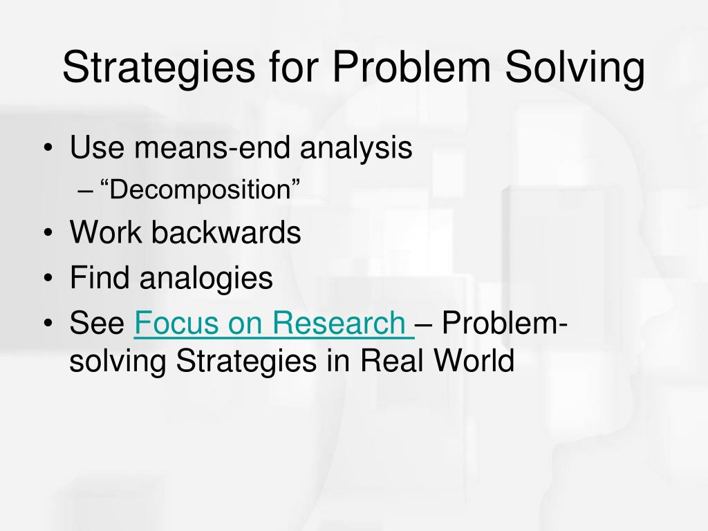 Strategies for Problem Solving