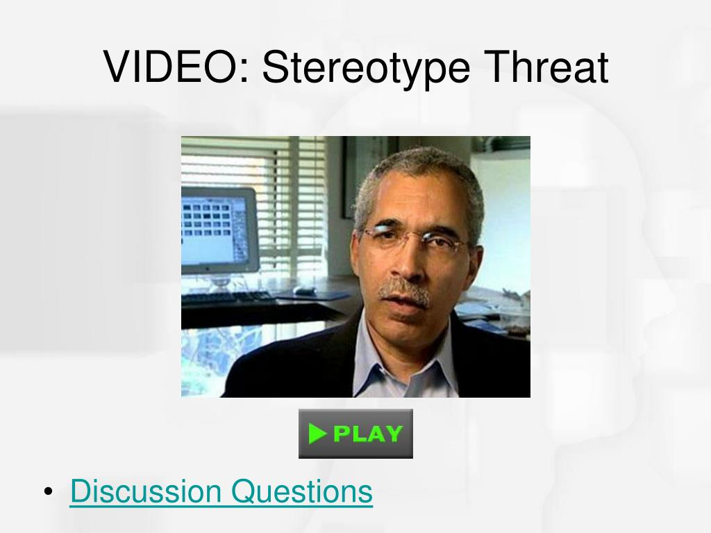 VIDEO: Stereotype Threat