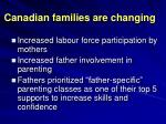 canadian families are changing