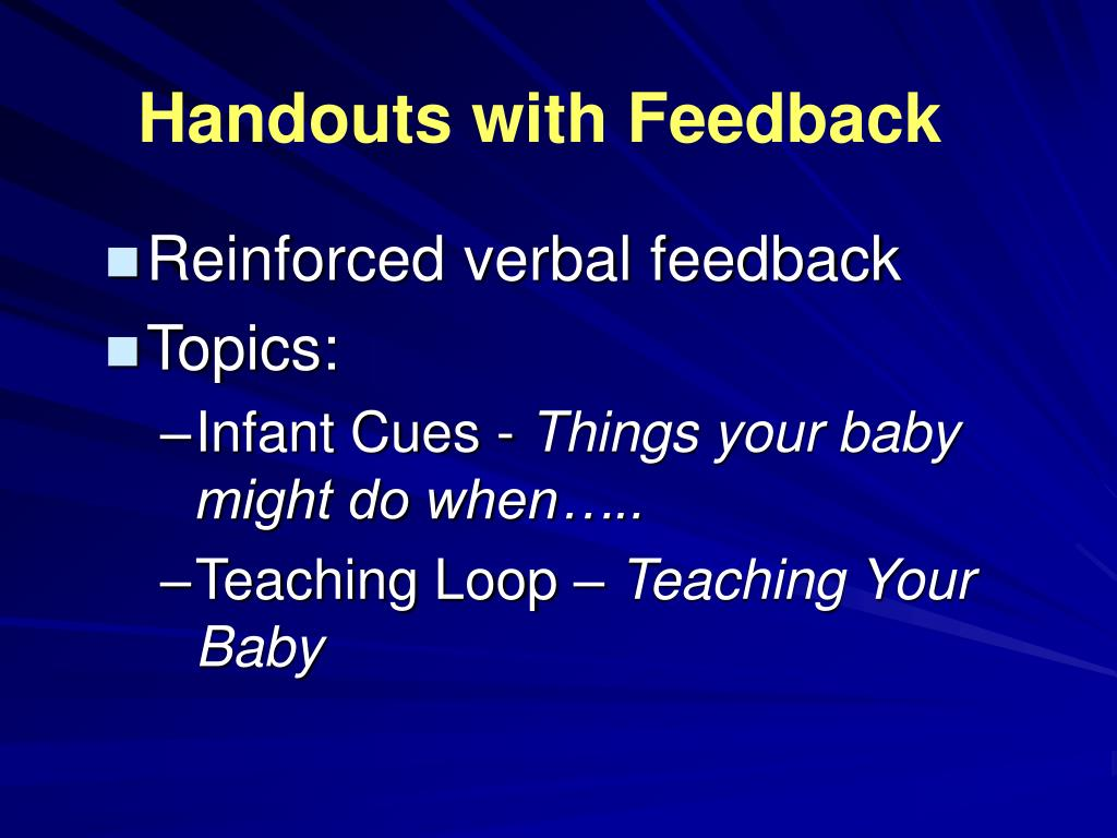 Handouts with Feedback