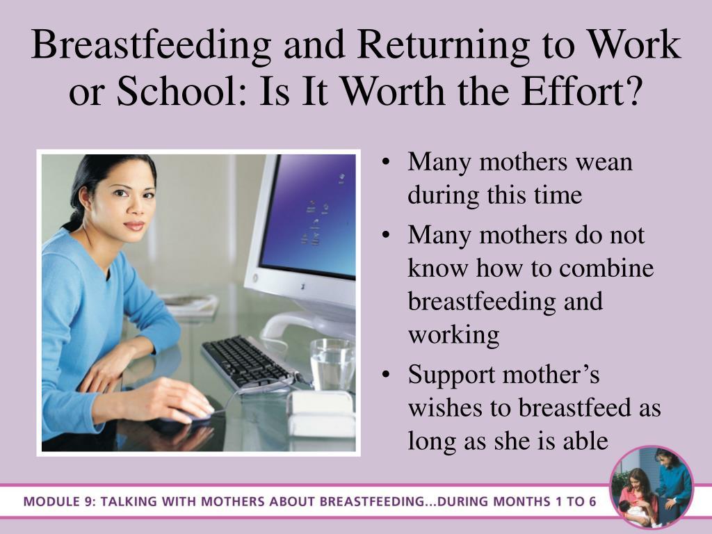 Breastfeeding and Returning to Work