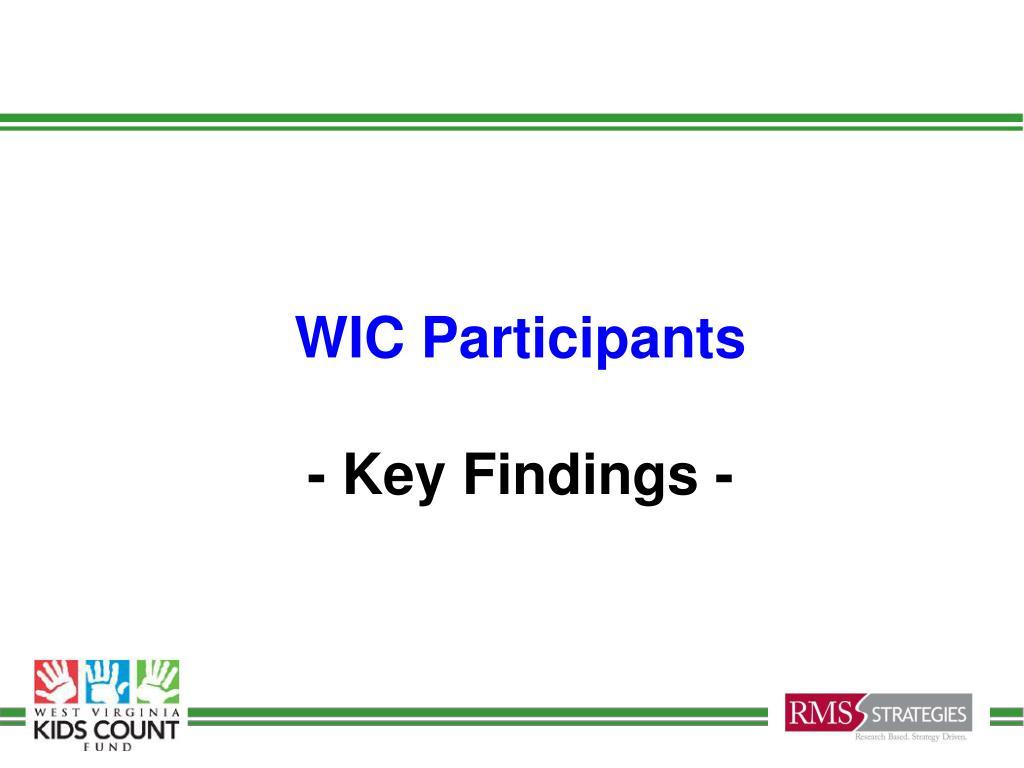 WIC Participants