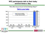 wic participants talk to their baby several times a day
