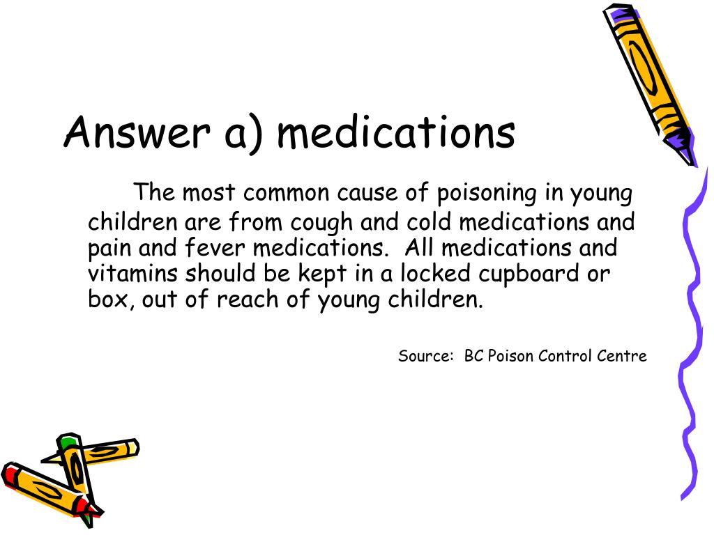 Answer a) medications