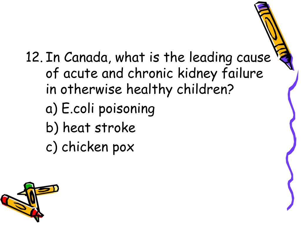 In Canada, what is the leading cause of acute and chronic kidney failure in otherwise healthy children?