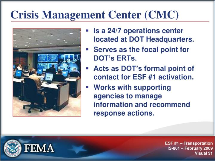 Crisis Management Center (CMC)