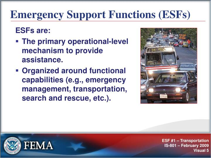 Emergency Support Functions (ESFs)