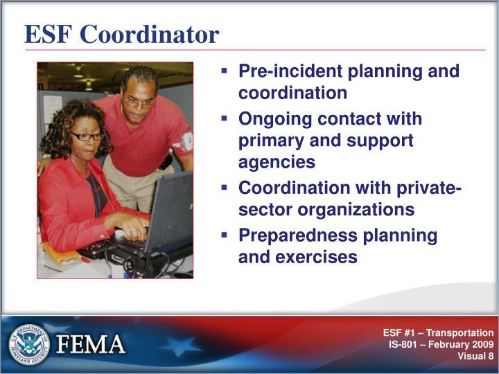 ESF Coordinator