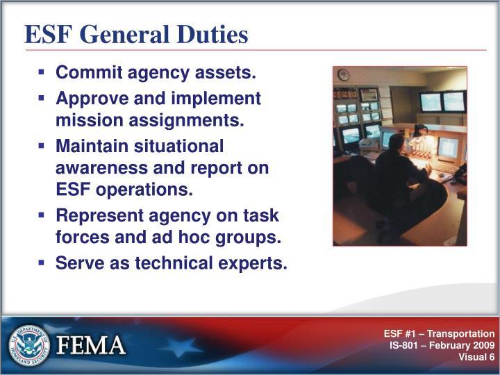 ESF General Duties