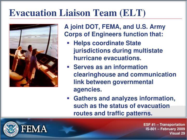 Evacuation Liaison Team (ELT)