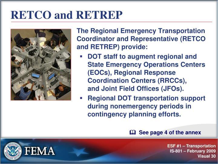 RETCO and RETREP