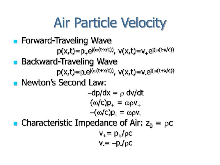 Air Particle Velocity