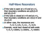 half wave resonators
