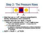 step 2 the pressure rises
