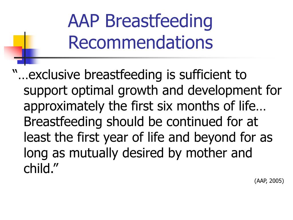 AAP Breastfeeding Recommendations