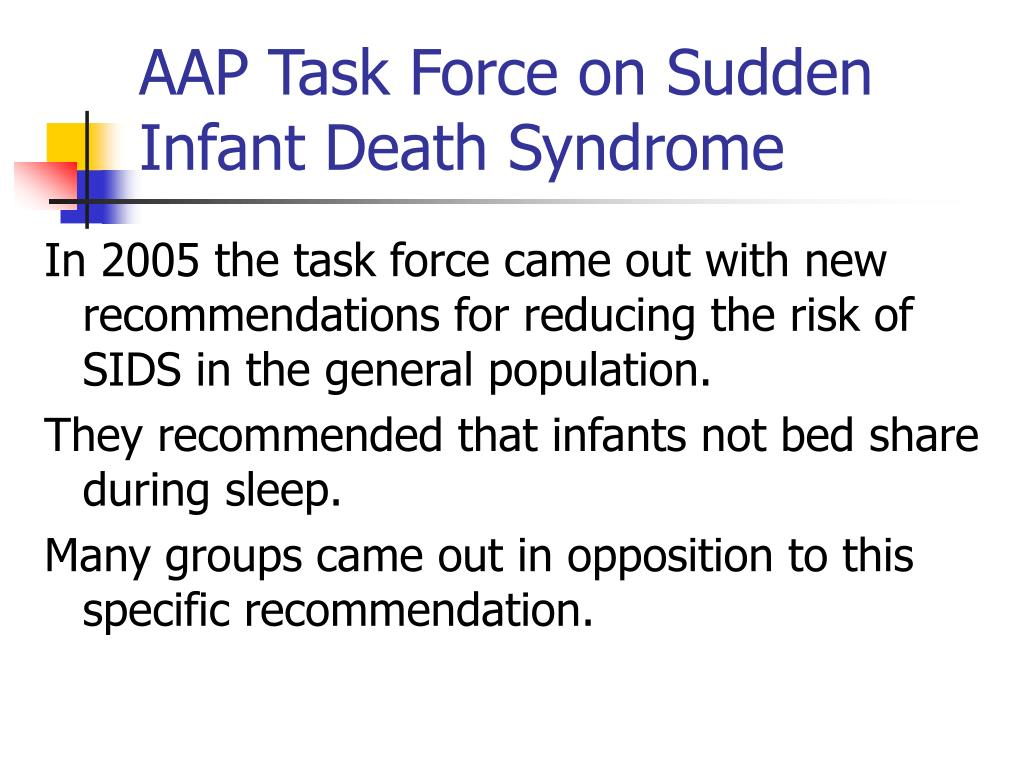 AAP Task Force on Sudden Infant Death Syndrome