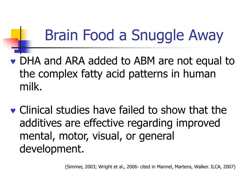 Brain Food a Snuggle Away