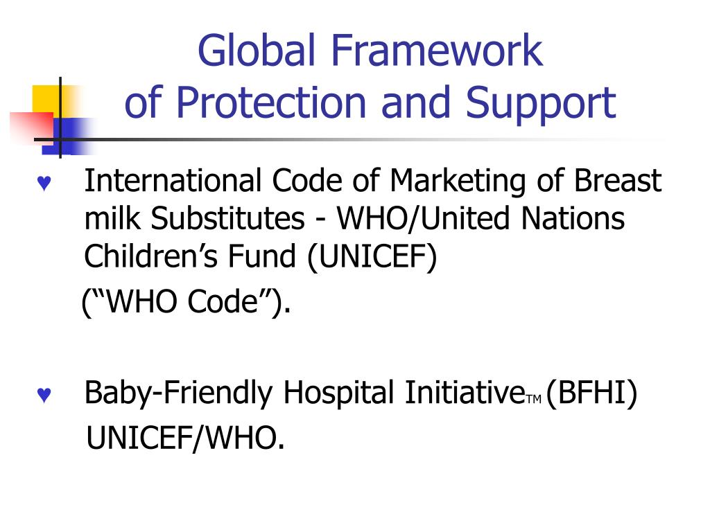 Global Framework