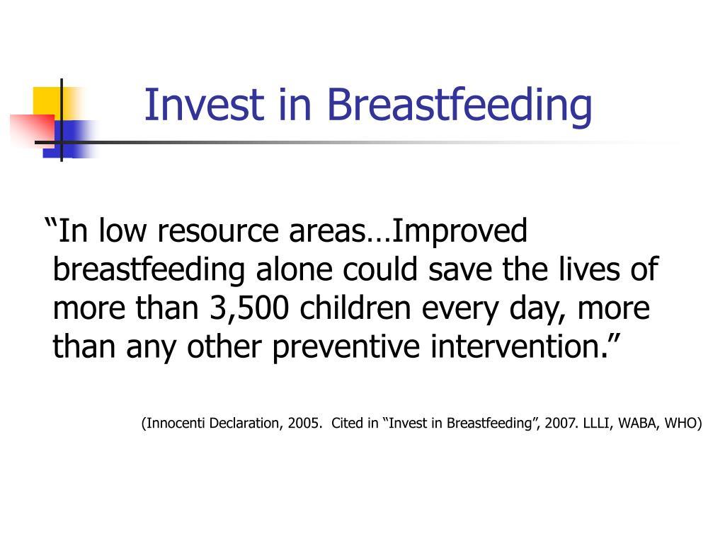 Invest in Breastfeeding