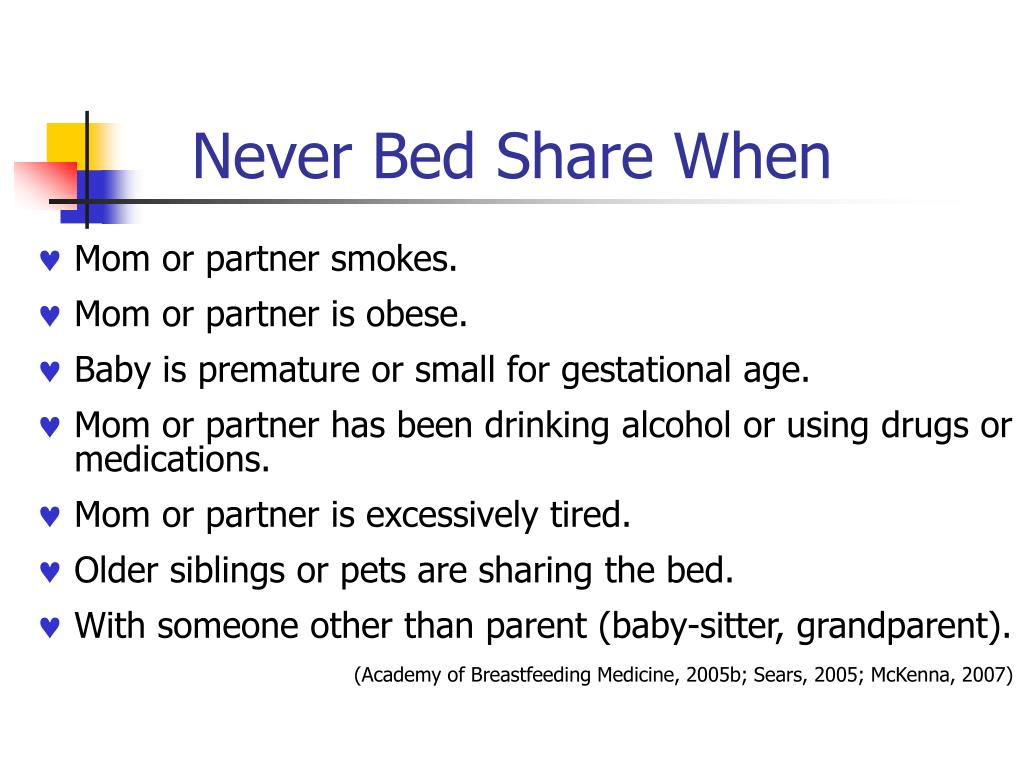 Never Bed Share When