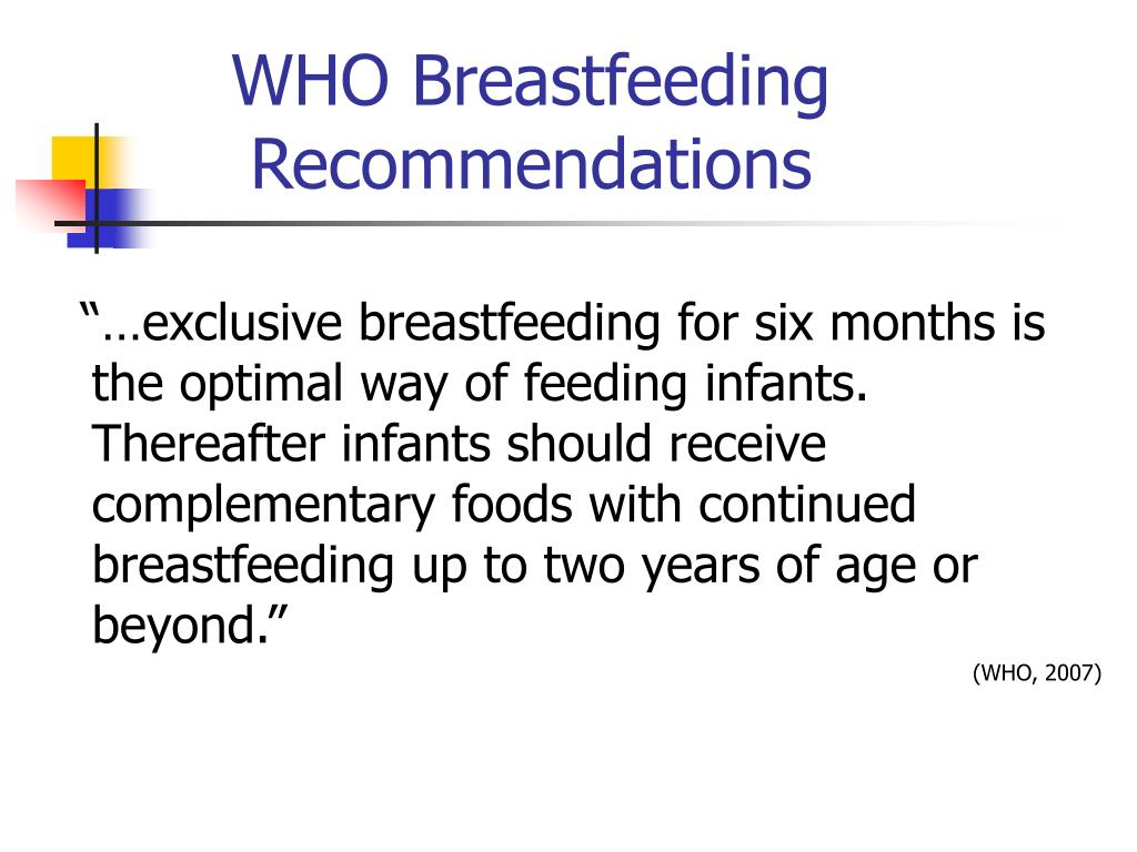 WHO Breastfeeding Recommendations