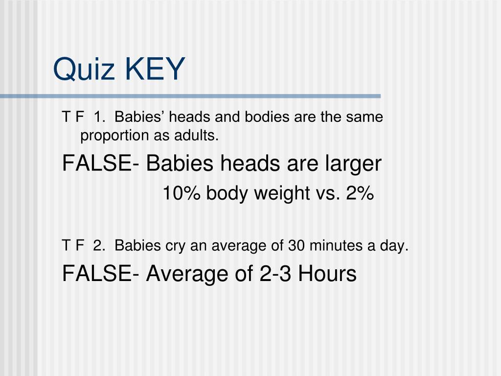 Quiz KEY