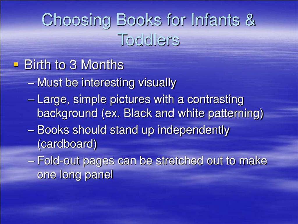 Choosing Books for Infants & Toddlers