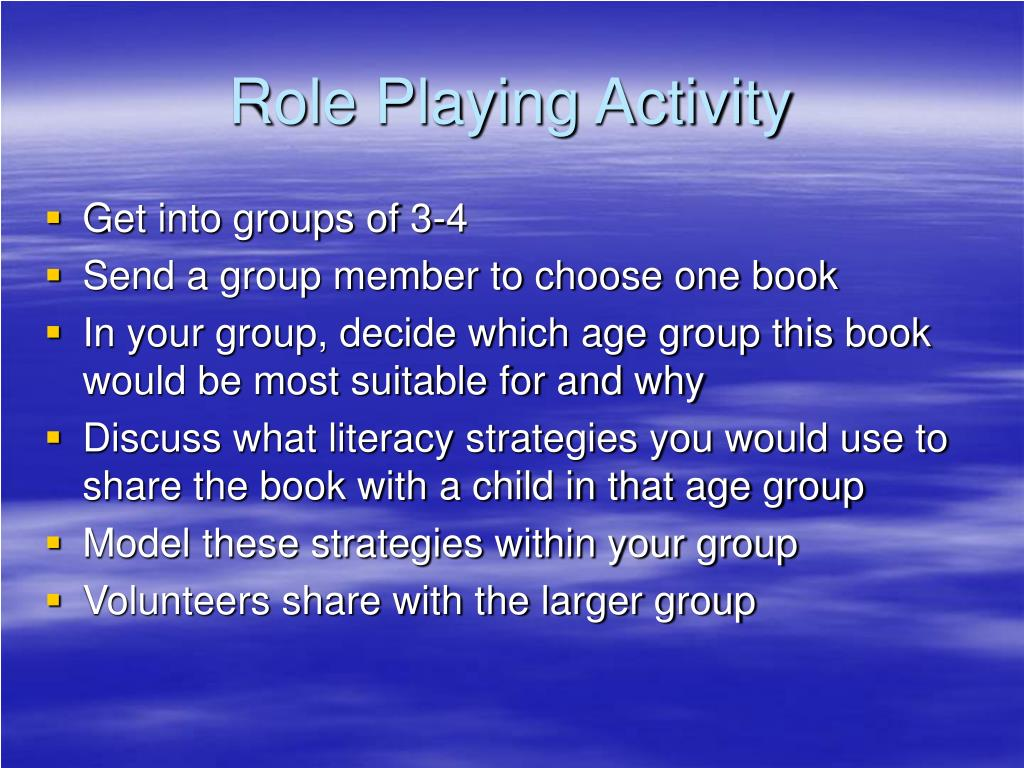 Role Playing Activity