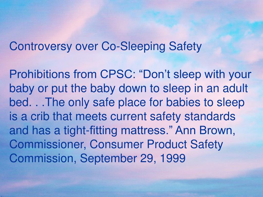 Controversy over Co-Sleeping Safety