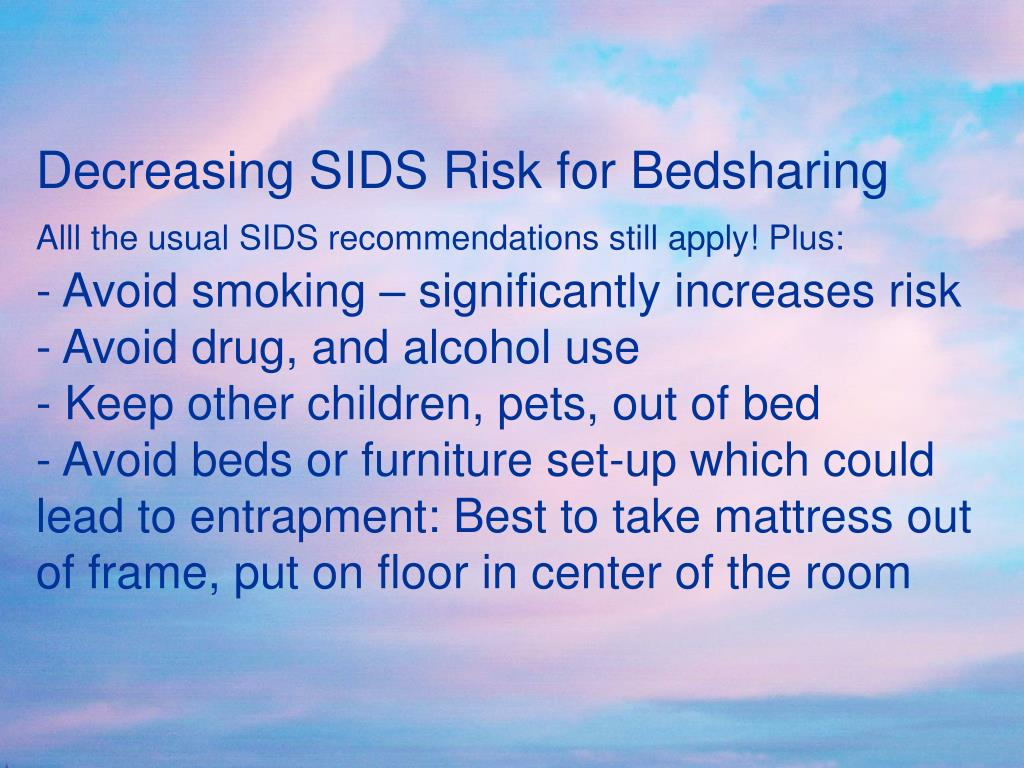 Decreasing SIDS Risk for Bedsharing