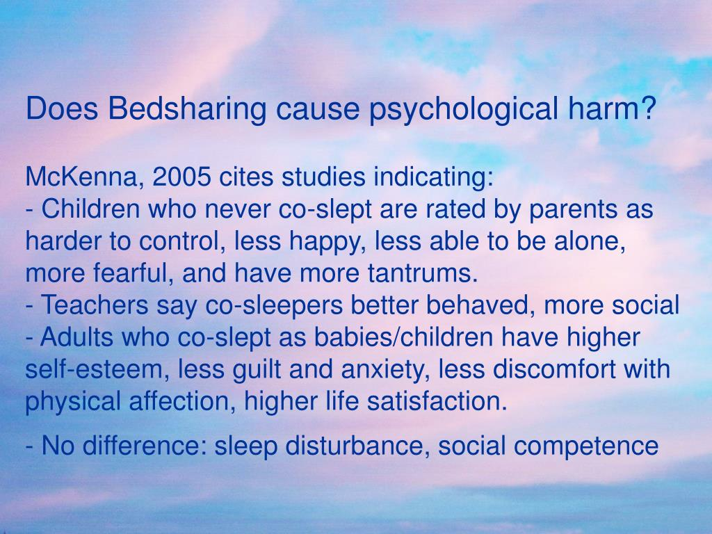 Does Bedsharing cause psychological harm?