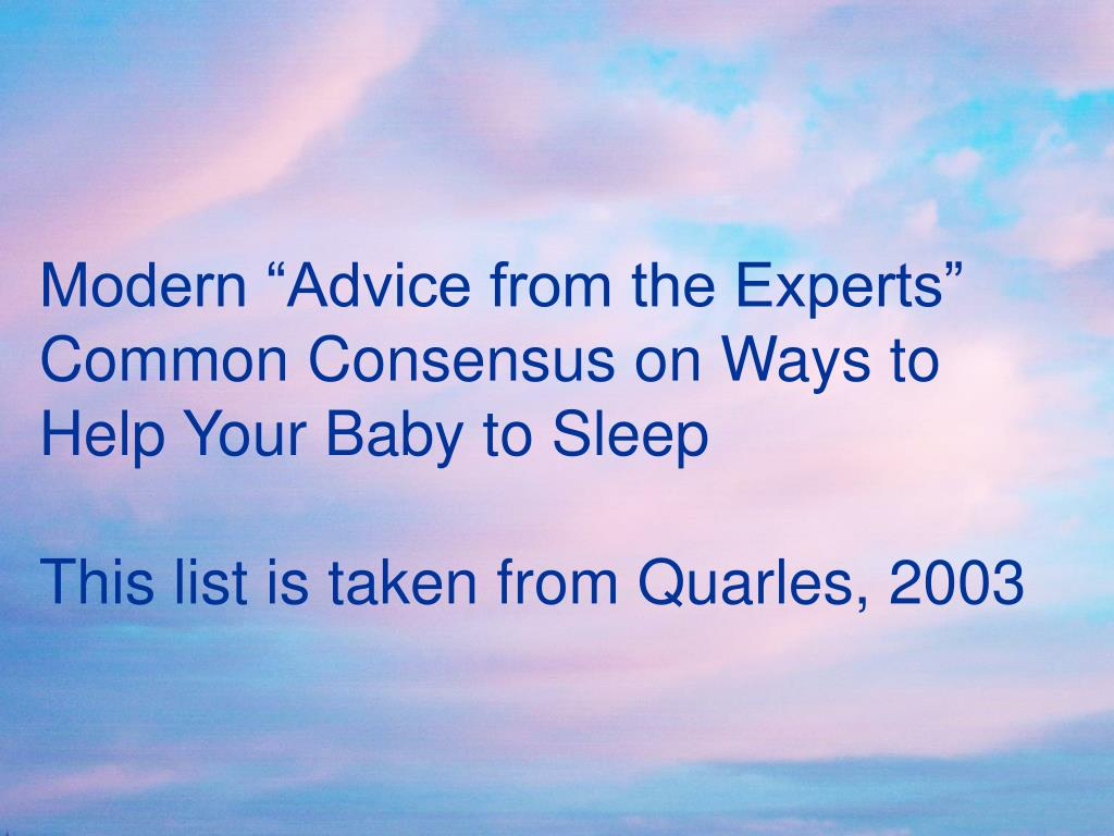 "Modern ""Advice from the Experts"""