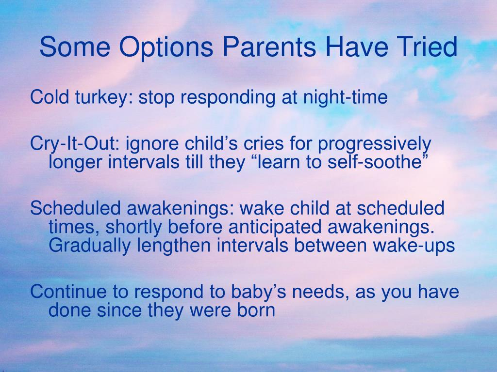 Some Options Parents Have Tried