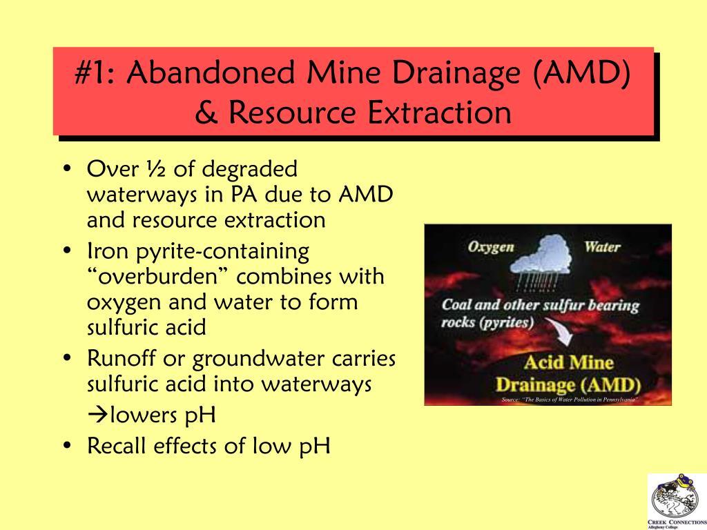 #1: Abandoned Mine Drainage (AMD) & Resource Extraction