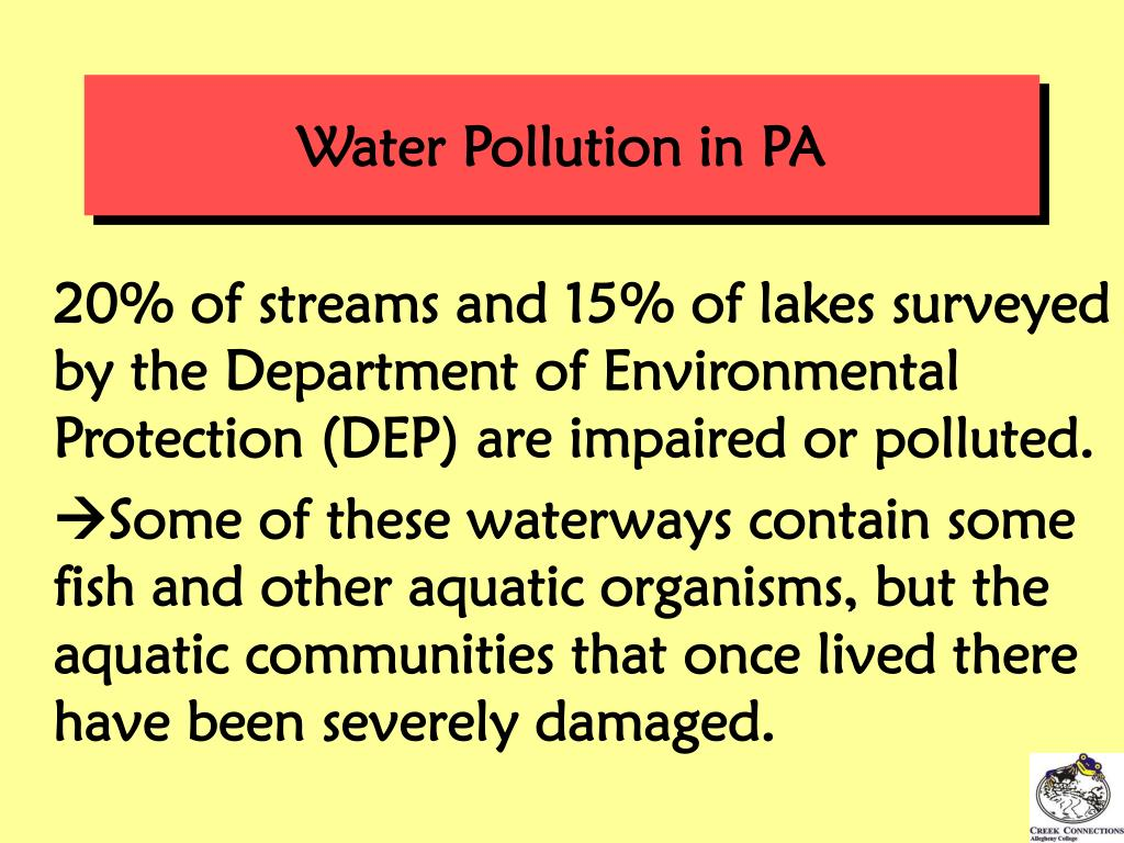 Water Pollution in PA