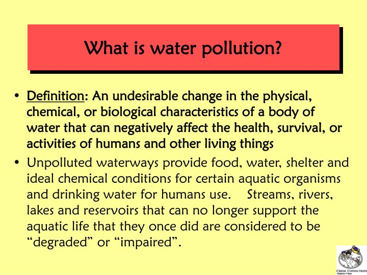 What is water pollution
