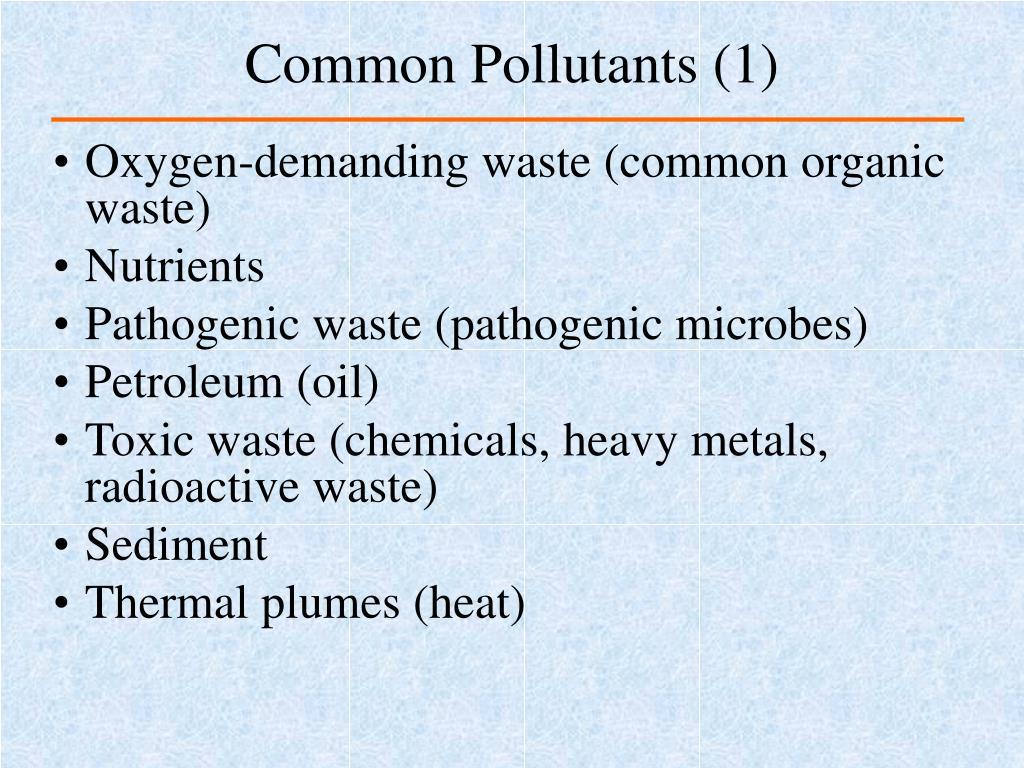 Common Pollutants (1)