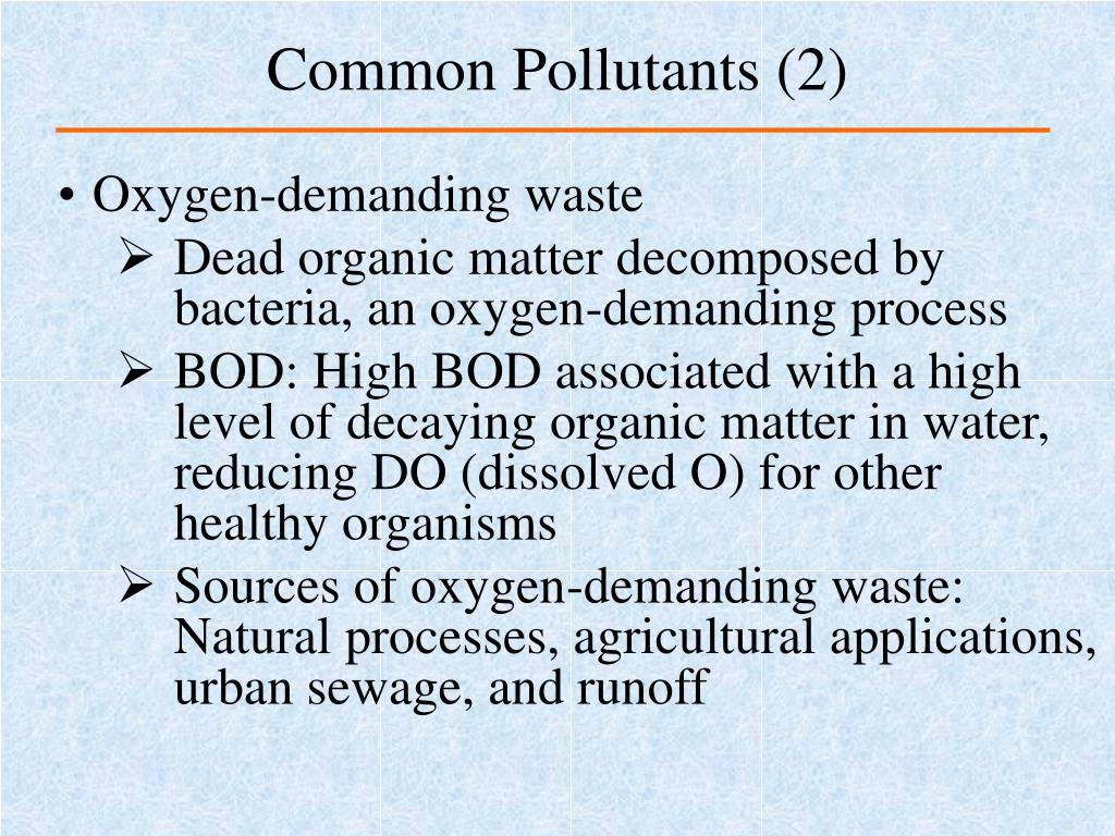Common Pollutants (2)