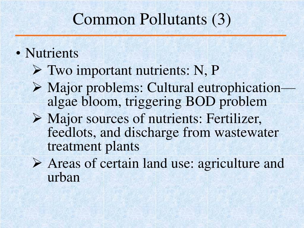 Common Pollutants (3)