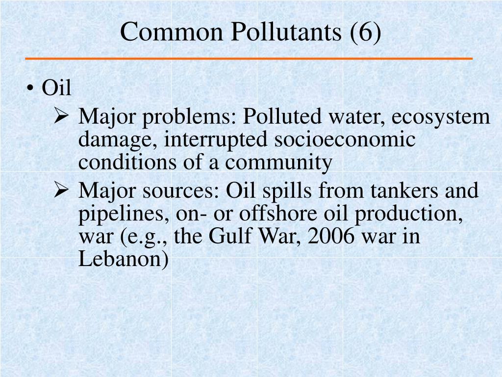 Common Pollutants (6)