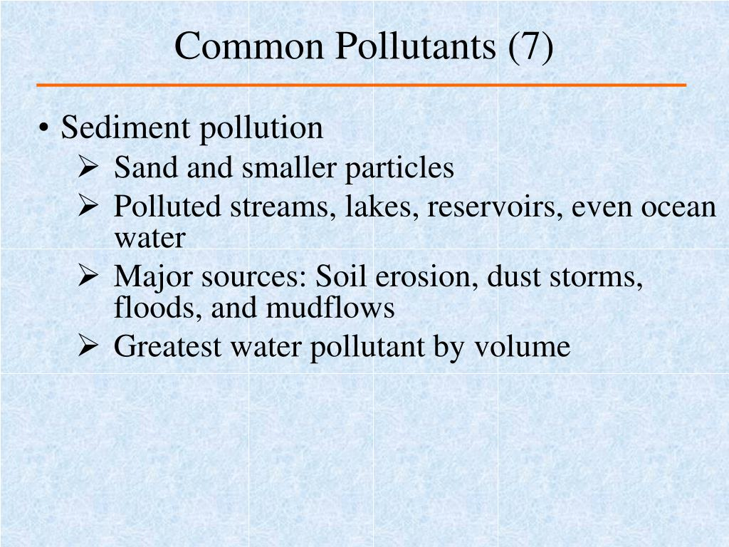 Common Pollutants (7)