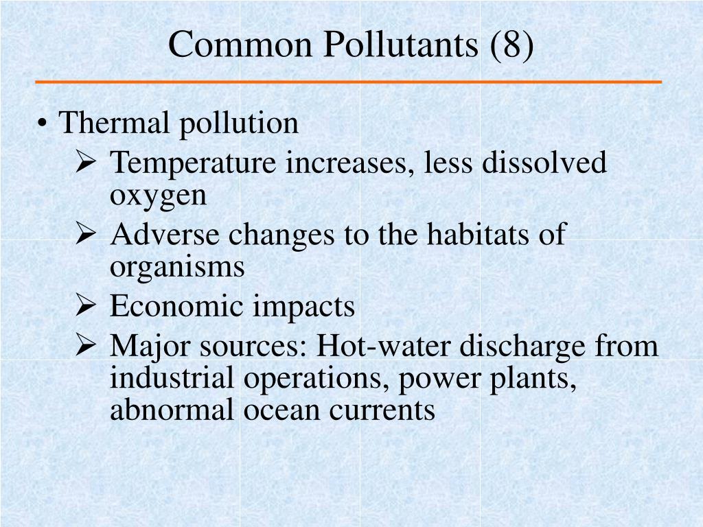 Common Pollutants (8)