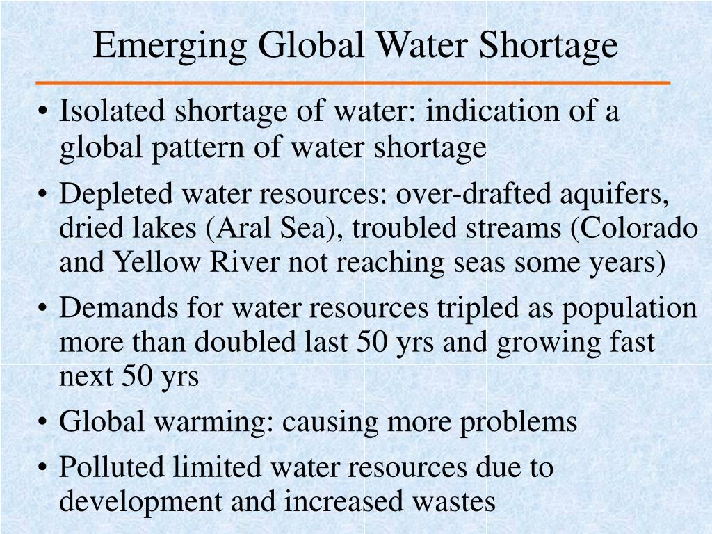 Emerging Global Water Shortage
