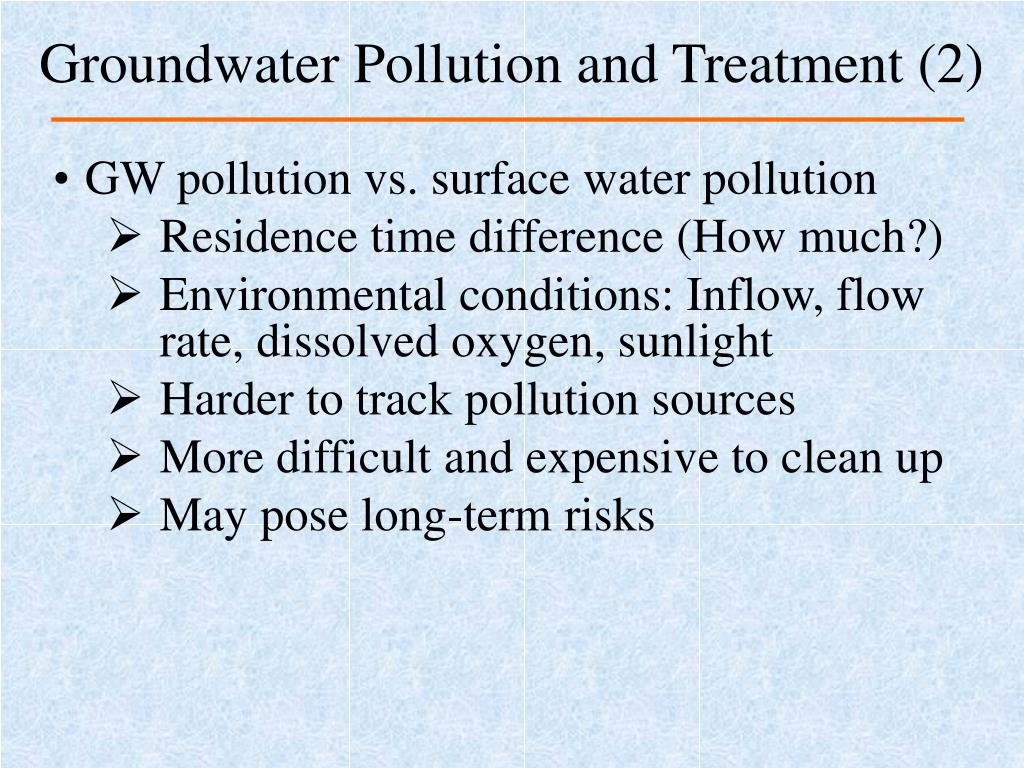 Groundwater Pollution and Treatment (2)
