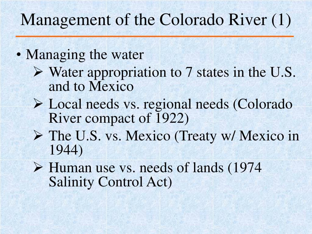 Management of the Colorado River (1)