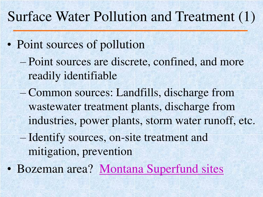 Surface Water Pollution and Treatment (1)