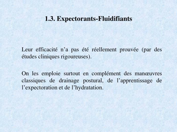 1.3. Expectorants-Fluidifiants